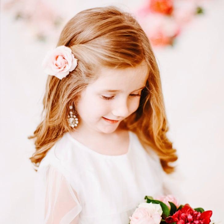 Flower Girl Hairstyles hair ideas for flower girl Flower Girl Hairstyles Popsugar Moms