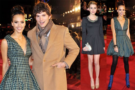 Photos of Ashton Kutcher, Demi Moore, Emma Roberts, and Jessica Alba at the London Premiere of Valentine's Day 2010-02-11 21:30:29.1