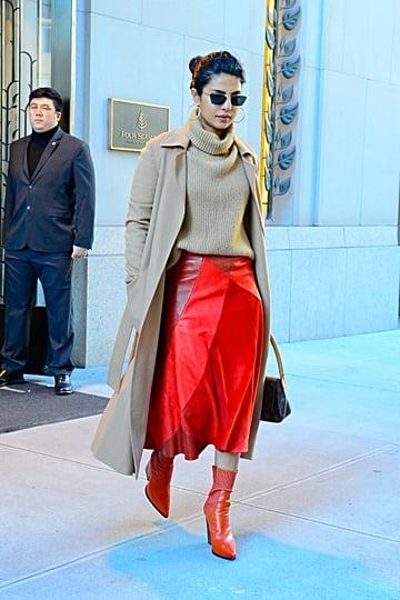 Priyanka Chopra's Red Boots October 2018