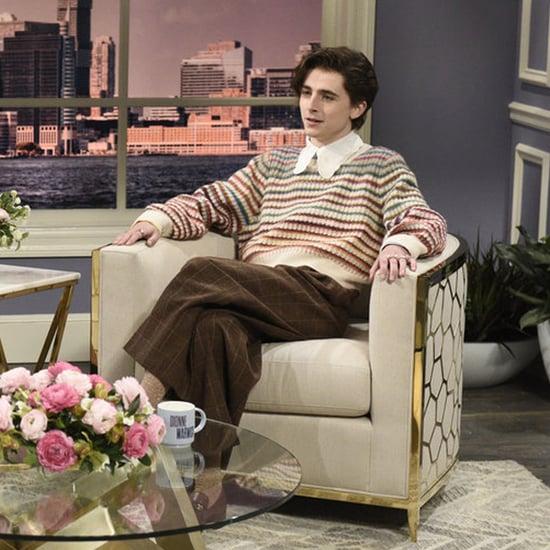 Timothée Chalamet Dressed in Gucci as Harry Styles on SNL