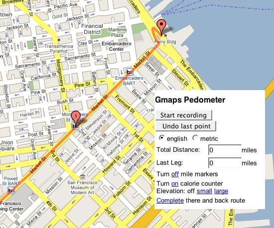 Count Your Effort With Gmaps-Pedometer