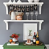 Spell it out with a DIY letter banner. You can tailor your message to speak directly to your Thanksgiving guests.