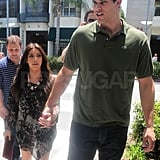 Kim Kardashian and Kris Humphries held hands heading to lunch.