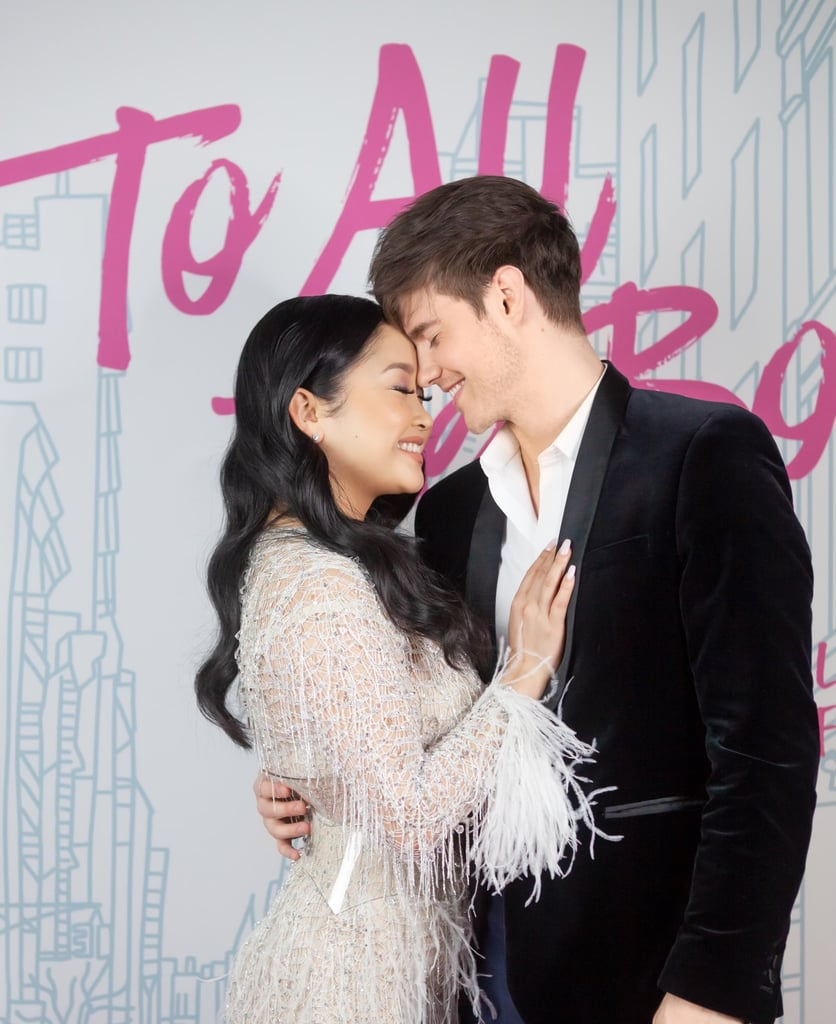 To All the Boys: Always and Forever is finally on Netflix, and the cast celebrated with a fun movie premiere at home. On Friday, the film's stars Noah Centineo, Lana Condor, Anna Cathcart, Janel Parrish, Emilija Baranac, Ross Butler, and Madeleine Arthur gave fans a glimpse of their fun, safe celebration with a handful of glamorous photos on Instagram. Each cast member was set up with their own personal To All the Boys backdrop and a pink carpet as they posed for the camera in their fancy outfits. Author Jenny Han even had a pink cake and Champagne on hand as she toasted with the cast via Zoom. See more of their sweet virtual gathering ahead.       Related:                                                                                                           I'm an Emotional, Sappy Mess After Watching Netflix's To All the Boys: Always and Forever