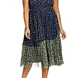 Jason Wu x Eloquii Floral Print Pleated Midi Dress