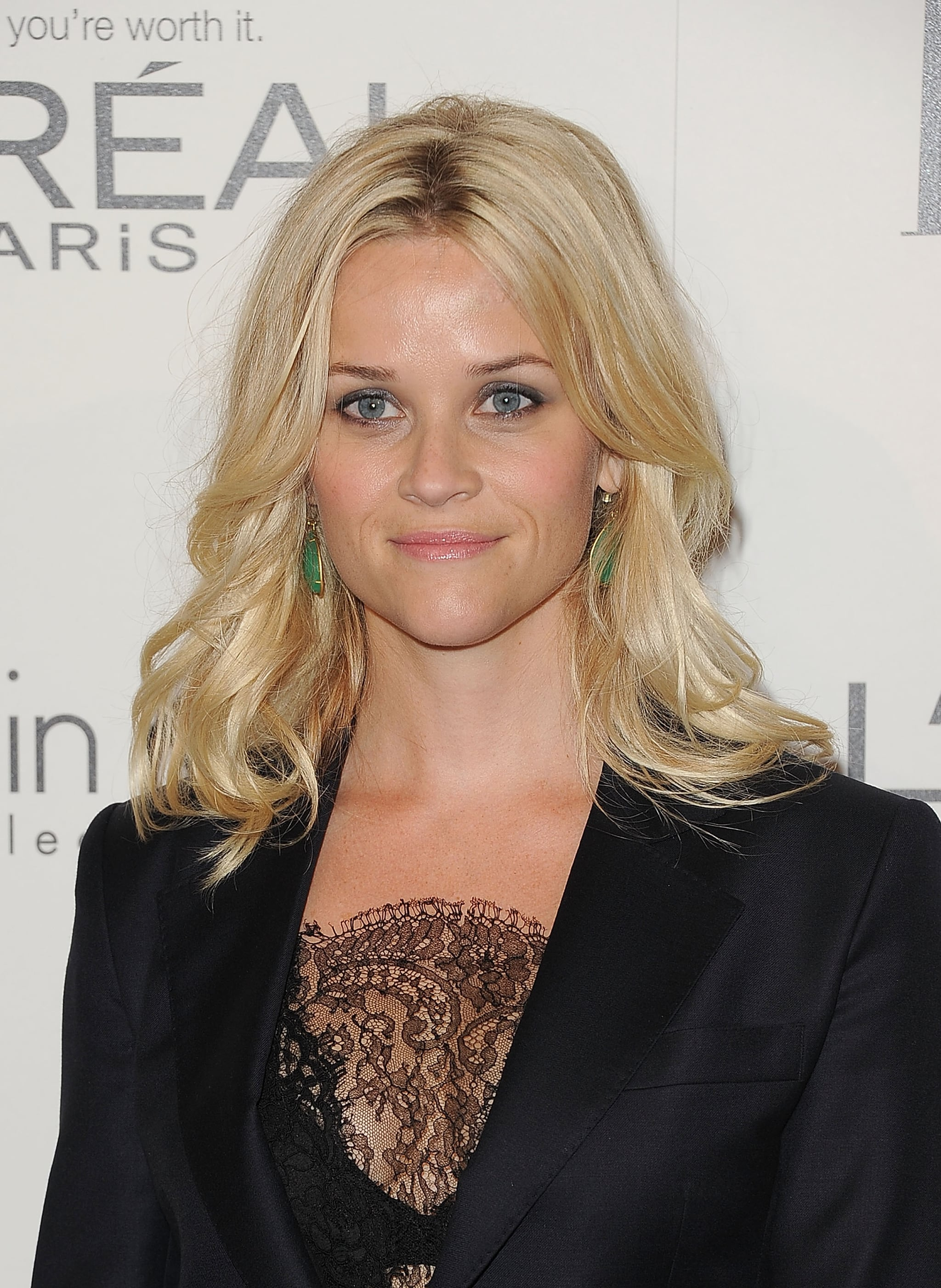 Reese Witherspoon wore a lace inset to an event in LA.