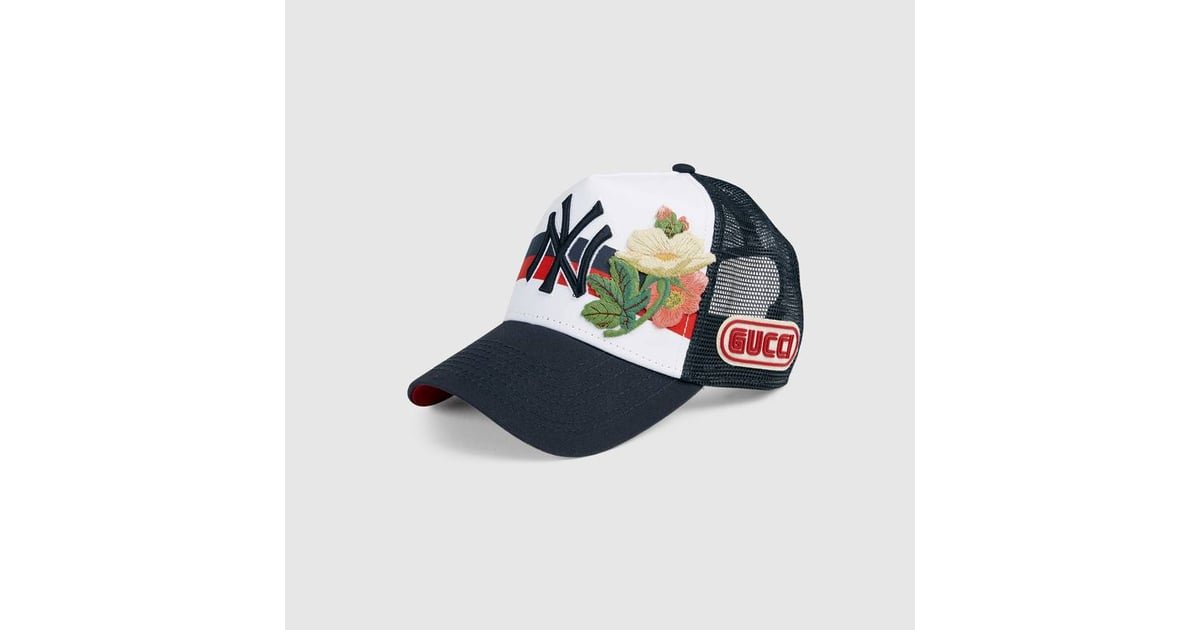 5fda8a6d4ef41 Gucci Baseball Cap With NY Yankees Patch