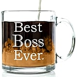 Best Boss Ever Glass Coffee Mug