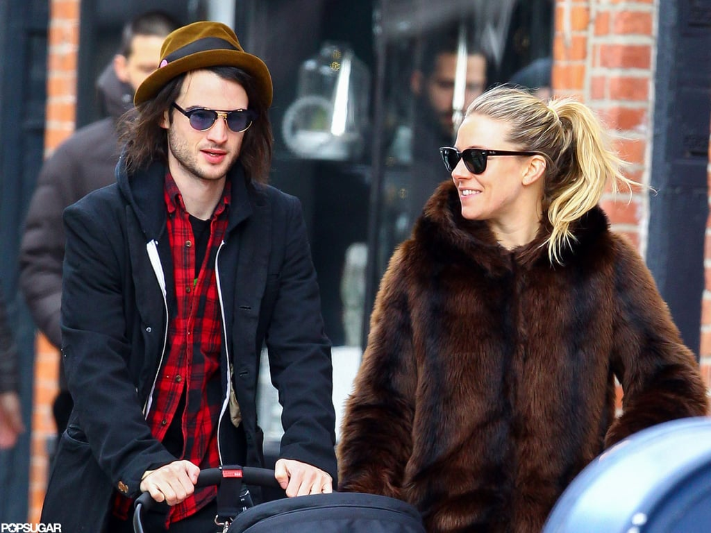 Sienna Miller and Tom Sturridge smiled in NYC.