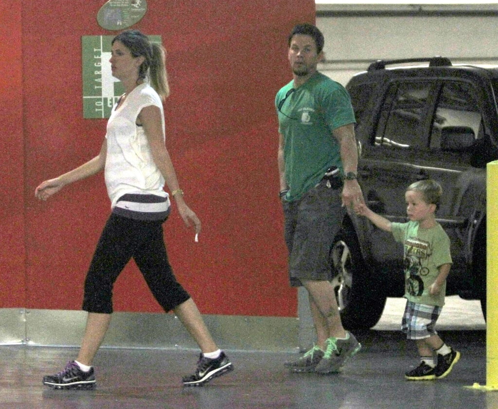 Rhea Durham led the way for husband Mark Wahlberg and their younger son Brendan at a mall in LA yesterday. Mark and Rhea's other three kids Ella, Michael, and Grace weren't along for the special outing. Brendan celebrates his third birthday next month, though first up is Ella who turns 8 on Sept. 2. Mark currently has a number of movie projects in the works and he's also celebrating the end of Entourage, which only has a handful of episodes left. The multitalented star stays busy outside of his TV and films as well, since Mark signed on as the brand ambassador for men's fashion line PRVCY and according to local Massachusetts press, he and his brother Donnie recently bought the rights to the restaurant name  Wahlburger to open up a burger place in Boston together.