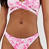 ASOS New Look Tie Dye Hipster Bikini Bottoms in Pink