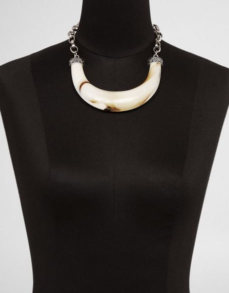 Express Resin Bone Collar Necklace ($50)
