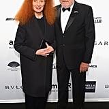 Grace Coddington and Peter Lindbergh at amfAR's New York Gala.