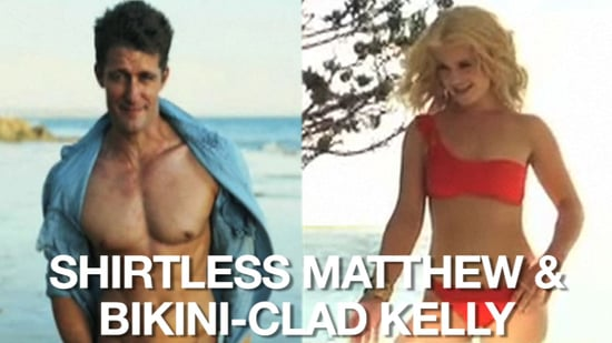 Video of Matthew Morrison Without a Shirt and Kelly Osbourne in a Bikini 2010-11-17 14:26:59