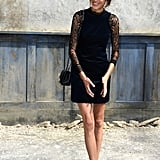 Alexa Chung looked chic at the Chanel show.