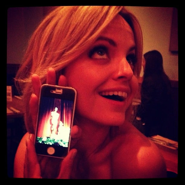 Mena Suvari snapped a photo on her phone. Source: Instagram user mena13suvari