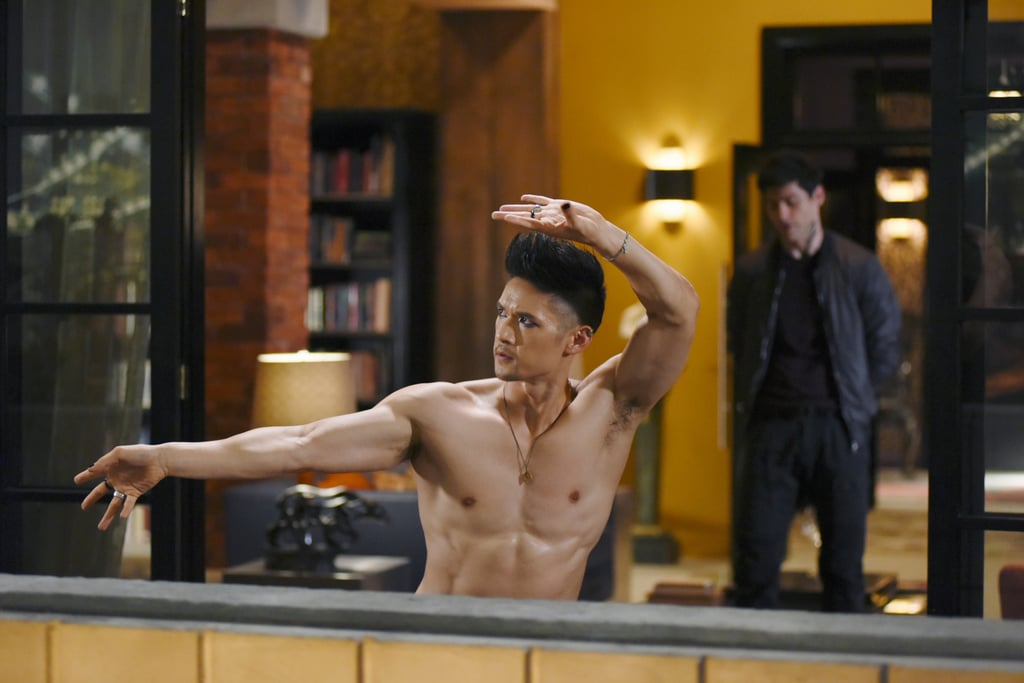 There are a ton of reasons we love Harry Shum Jr.: he's a talented actor, a smooth dancer, a loving husband, and, oh yeah, extremely attractive. When he's not playing the lovable Magnus Bane on Shadowhunters, the Crazy Rich Asians actor is making us drool over his shirtless photos on Instagram. Look at those abs! From his workout videos to his vacation selfies, you will no doubt swoon over his sexy snaps. Turn up the AC and see some of his best shirtless moments ahead.  Related: 47 of the Sexiest, Steamiest Celebrity Shirtless Moments From 2018 — So Far