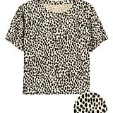 Slub Cotton-Modal Boxy Cropped T-Shirt