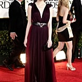 Emma Stone in a Lanvin gown.