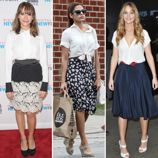 8 Celebs Prove That Midlength Skirts Are Just as Fab as Minis