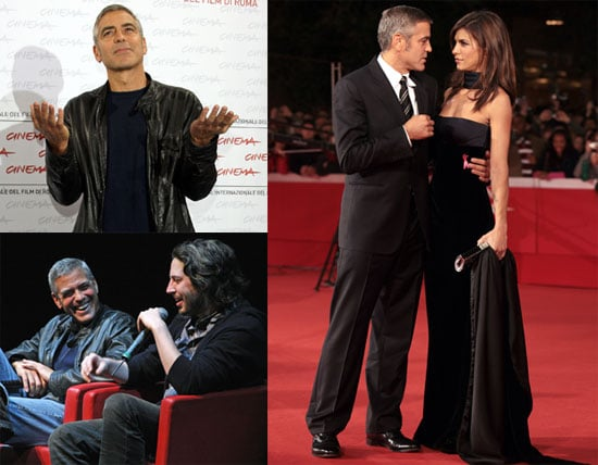 Photos of George Clooney With Girlfriend Elisabetta Canalis Promoting Up in The Air in Rome 2009-10-19 07:45:00