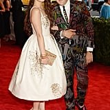 Hailee Steinfeld walked the red carpet with Teen Vogue style blogger Andrew Bevan.
