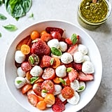 With Strawberries and Pistachio Pesto
