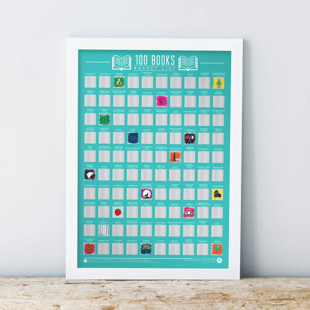 Gift Republic 100 Books Bucket List Poster
