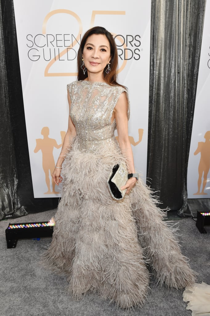 If award season has taught us anything so far, it's that Michelle Yeoh has an insane jewellery collection. At the Golden Globe Awards, the iconic actress wore the emerald ring at the centre of Crazy Rich Asians, and revealed that it is, in fact, her own. At the Screen Actors Guild Awards on Sunday night, Michelle wore quite the expensive watch by Richard Mille — and yep, that one is hers, too.  Richard Mille is a luxury Swiss watch brand with pieces that can cost millions of dollars, and often surpass six figures. The brand also has a long list of celebrity ambassadors, including Michelle, who previously designed the RM 051 watch. At the SAG Awards, however, Michelle wore a different Richard Mille watch to go with her feathery champagne-coloured gown. See photos of the accessory ahead.      Related:                                                                                                           This SAG Awards Pre-Party Brought Out Some of Hollywood's Best — See the Photos!