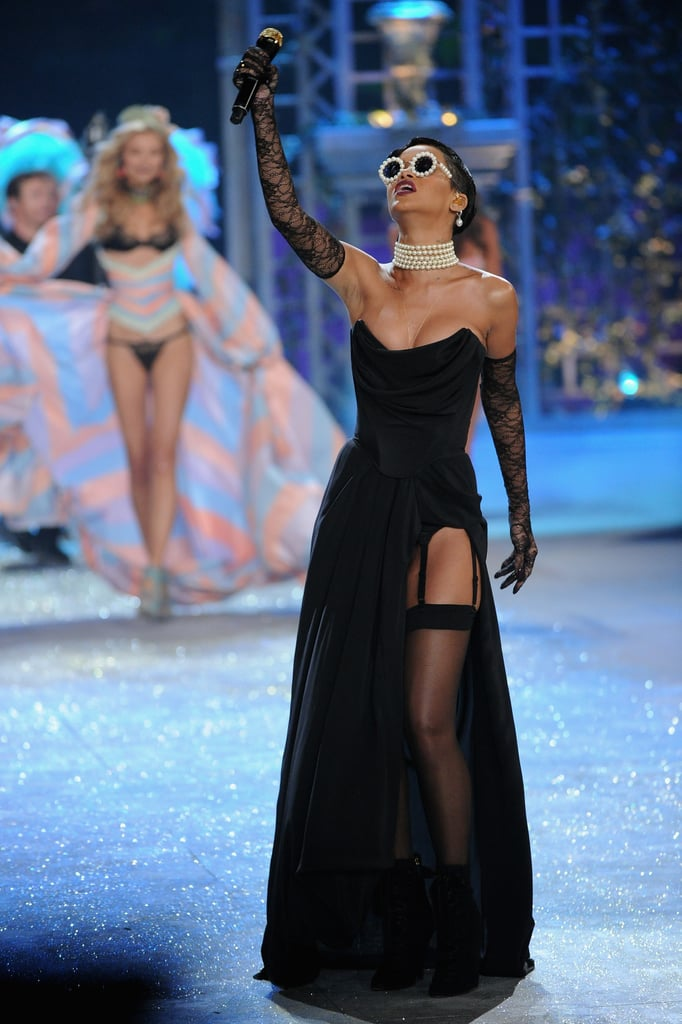 Rihanna performed on stage at the Victoria's Secret Fashion Show.