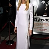 Gwyneth floated down the red carpet at the LA premiere of Country Strong, donning a long-sleeved Emilio Pucci gown with black lace-up sandals.