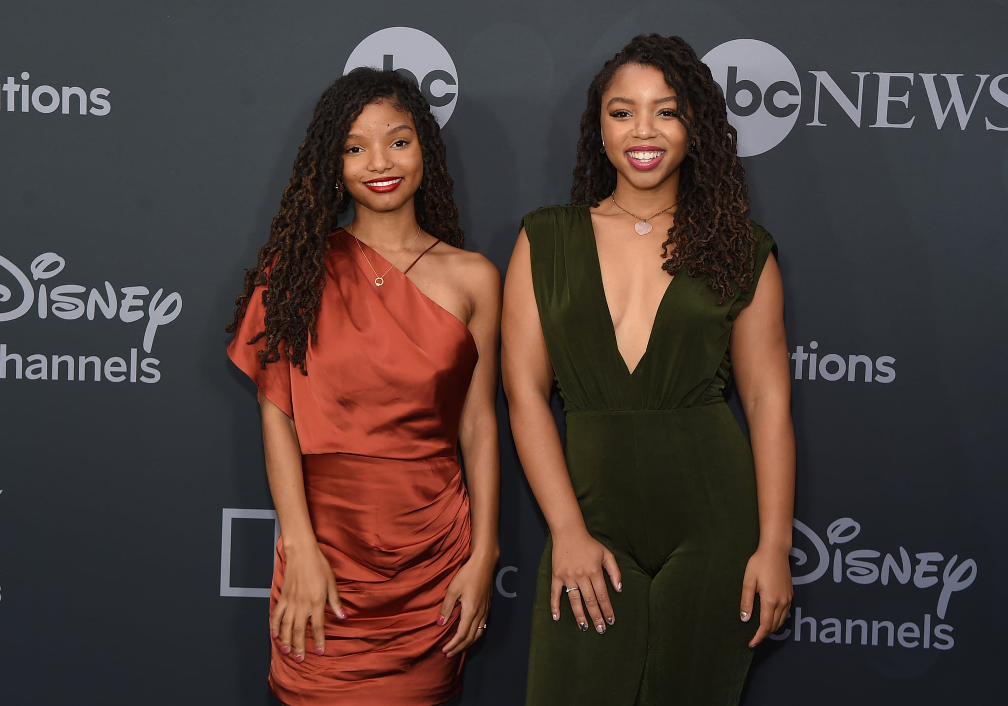 NEW YORK, NEW YORK - MAY 14: Halle Bailey and Chloe Bailey attend the ABC Walt Disney Television Upfront on May 14, 2019 in New York City. (Photo by Jamie McCarthy/Getty Images)