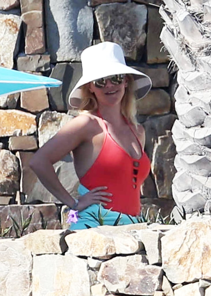 Reese Witherspoon Wearing Red Swimsuit
