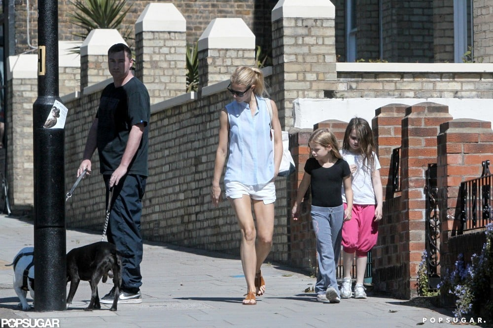 Gwyneth Paltrow took a stroll with daughter Apple in London.