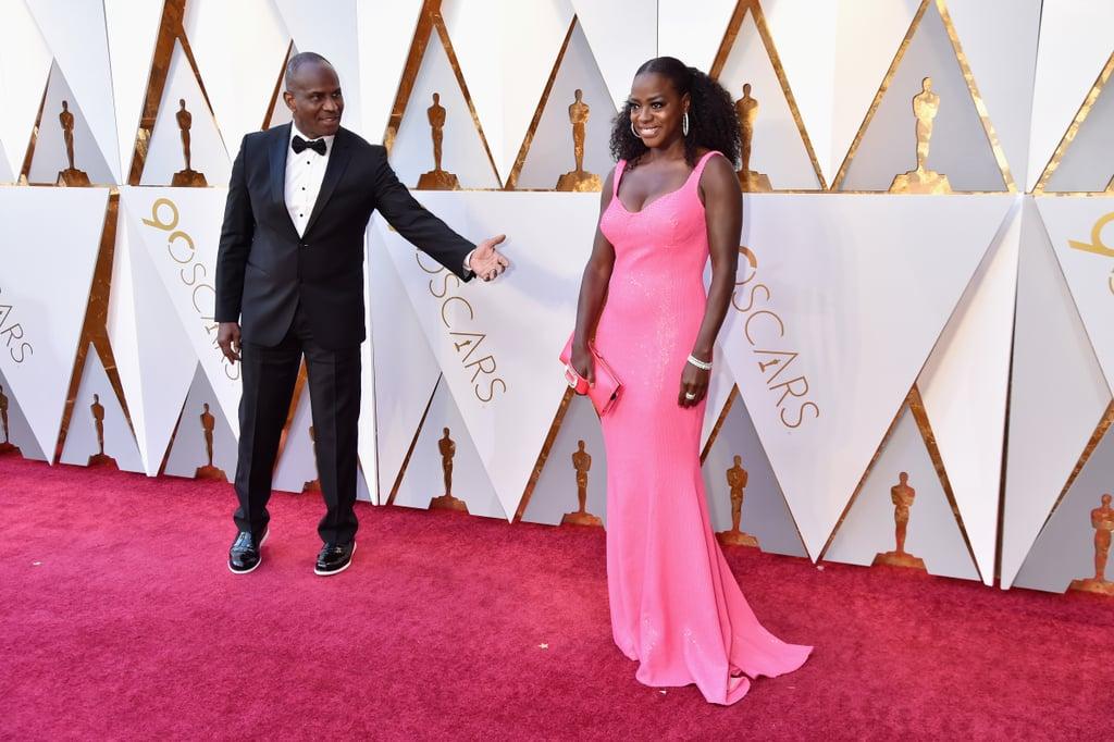 Pictured: Julius Tennon and Viola Davis