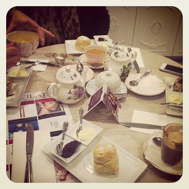 The gorgeus Victoria Room Tea Salon in Westfield Sydney was the perfect setting for a beauty meeting.