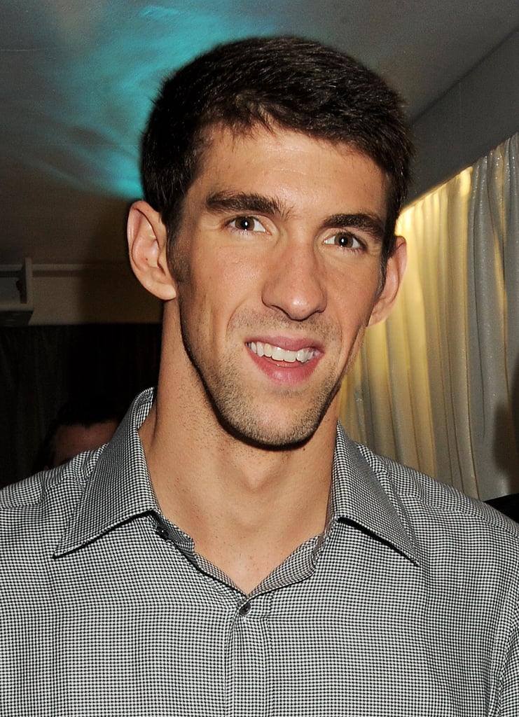 Michael Phelps smiled while out in London.