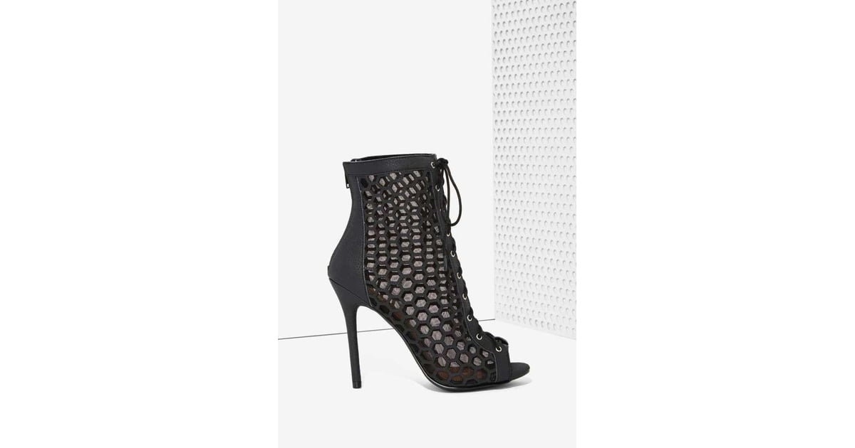 1ef19ad3f0a Nasty Gal Lace-Up Vegan Leather Bootie ( 88)