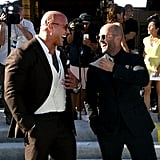 Dwayne Johnson and Jason Statham were all smiles at the LA premiere of Hobbs and Shaw in July 2019.