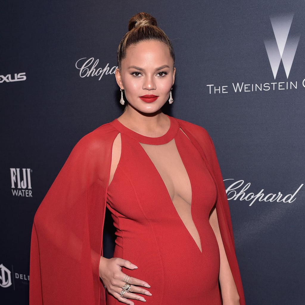 Chrissy Teigen's Dress at Oscars Preparty