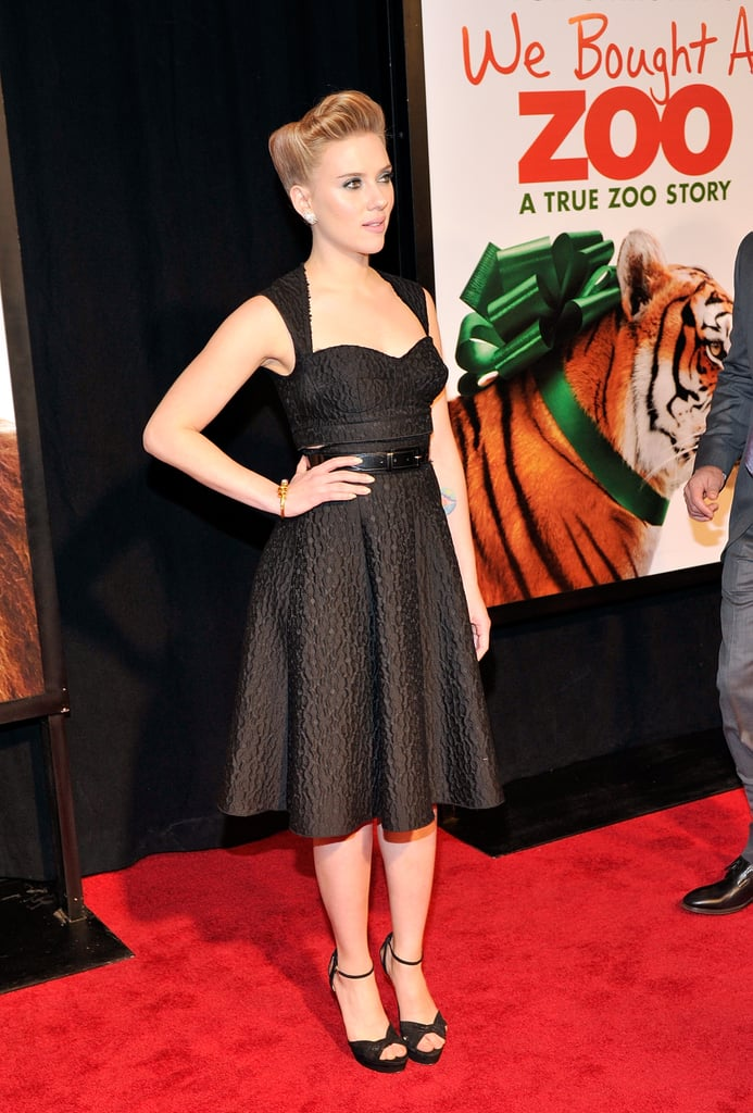Scarlett Johansson wore a gorgeous cut-out dress at an NYC premiere.
