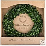 Olive Branch Home Preserved Boxwood Wreath With Gift Box