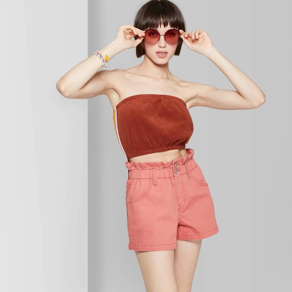 2142a0eb0c1d0f Women's High-Rise Paper Waist Bag Jean Shorts | Best Wild Fable ...