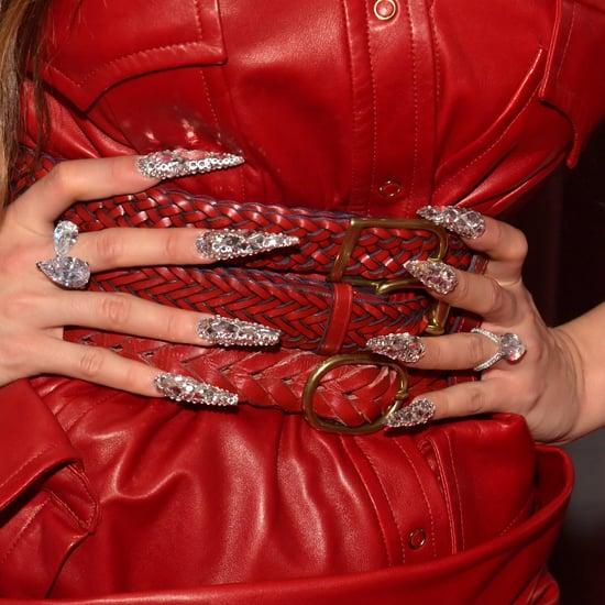 Rosalía's Razor-Sharp Bejeweled Nail Art at the Grammys 2020