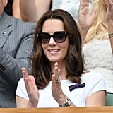 The Duchess of Cambridge Wore a White Catherine Walker Dress