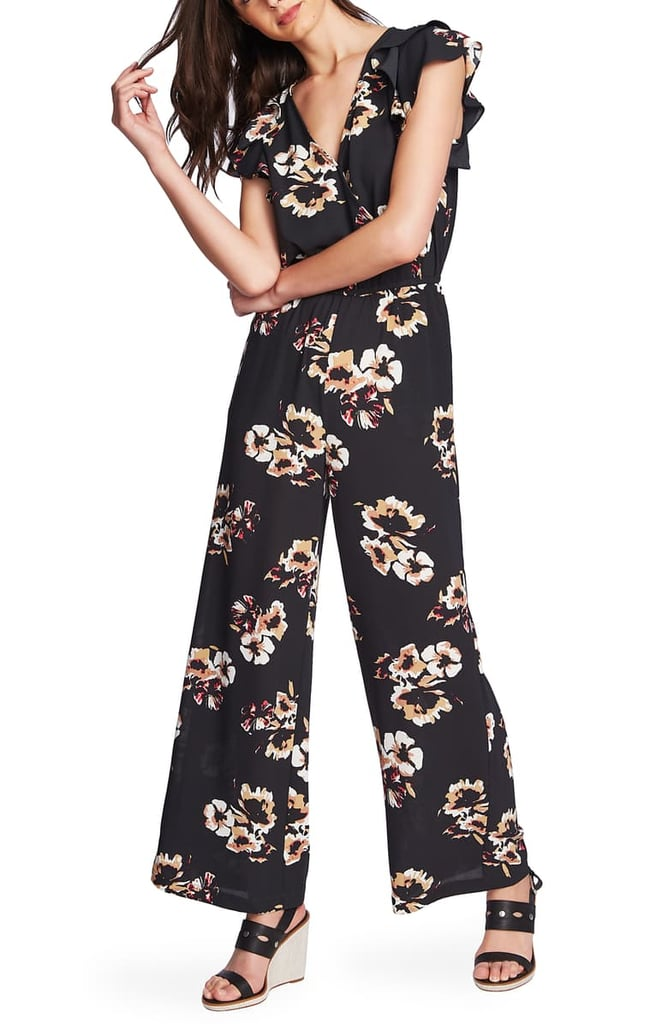 1.State Mirage Wrap Front Flounce Sleeve Jumpsuit