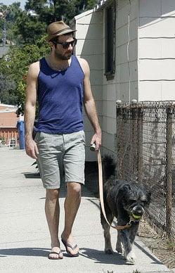 Photos of Zachary Quinto and his Dog