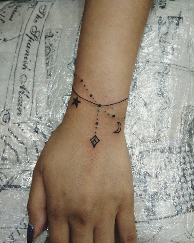 Bracelet Tattoo Ideas Popsugar Beauty