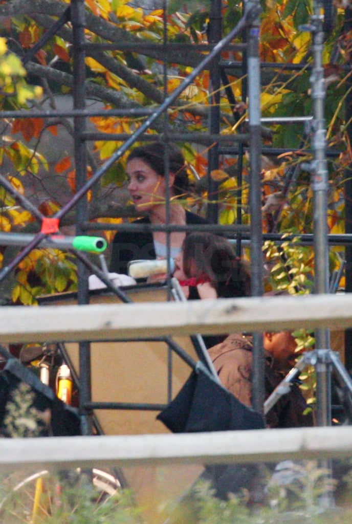 Photos of Katie Holmes and Suri Cruise on the NYC Set of The Romantics