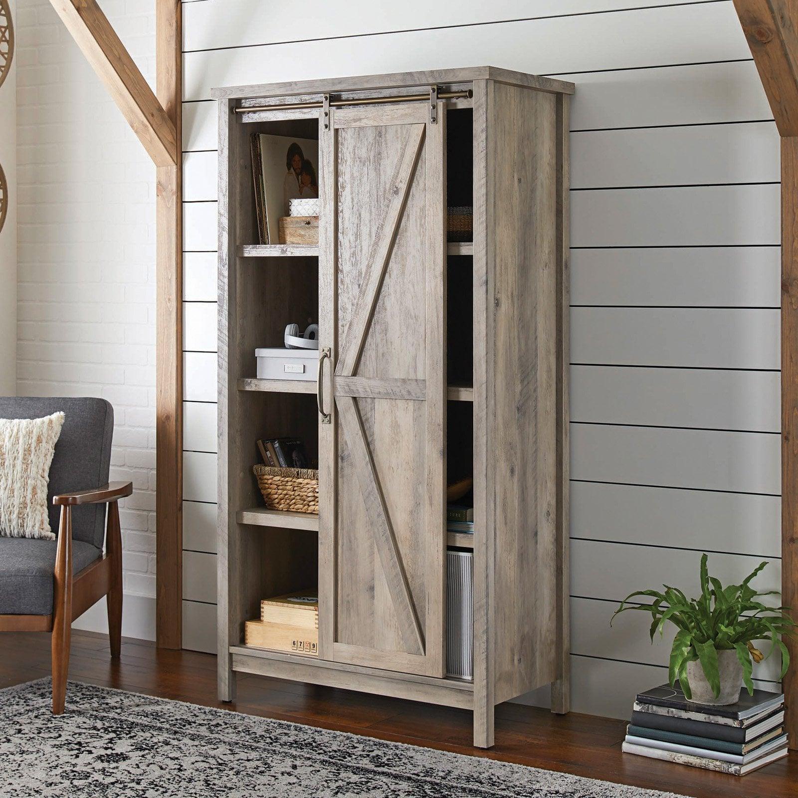 Better Homes & Gardens Modern Farmhouse Storage Cabinet ...
